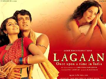 Lagaan - Amir,Gracy,Rachel :Shows the three main characters of the movie, yes the most important character is missing in that picture Paul Blackthorne(Captain Russel)