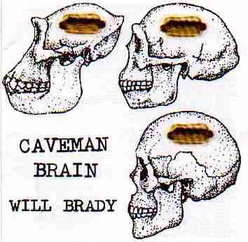 Caveman - Picture of a caveman and modren mans heads