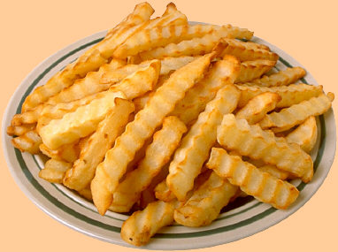 French Fries - a plate with french fries