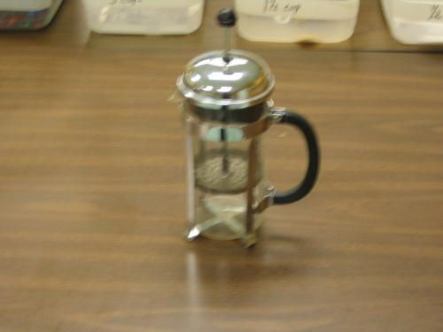 french press - french press that I keep in my classroom.