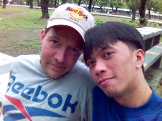 Big Bear and Lil Bear - There we were enjoying some leizure at a Quezon City park.