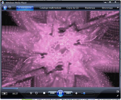 Windows Media Player 11 - a screenshot of an italian Windows Media Player 11