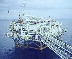 Offshore platform - Typical platform to get oils from sea..This is used for only get the oils from sea and there is a separate platform for separate purpose say for staying, production, refinery and so on..