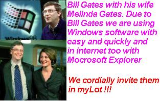 Bill Gates - world greatest software producer  - Bill Gates and his wife Melinda Gages. Bill Gates is world greatest software producer for us.