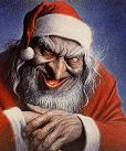Evil Santa - This is from a horror movie, but I'm not sure which one.