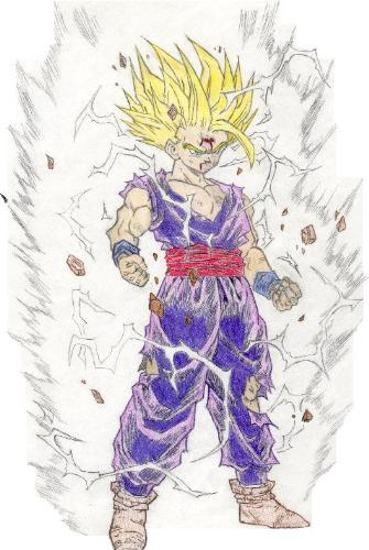Sangohan - I like that photograph, it is really well drawn, you do not find? It's when sangohan fight against 'sell'
