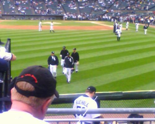 CHicago White Sox - This is the the team walkin ti the bullpin
