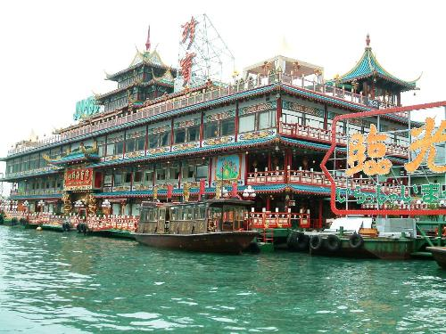 Hong Kong Floating Restaurant 01 - Huh! I'm gonna get to eat in there one day.....