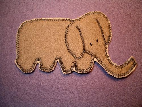 "a ""Little Woolgathering"" - elephant from ""Jungle Animals"" template set