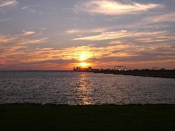 Sunset - Sunset over the Chesapeake Bay. Taken from Kent Island, Maryland.