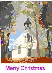 A village church during Christmas - A village church during Christmas