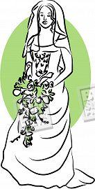 bride holding bouquet - bride holding bouquet and wating for her dream partner................
