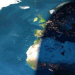 sunset from space - sunset from space