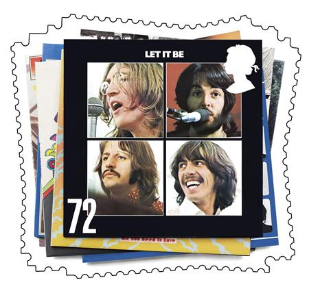 Beatles Album Cover Stamps - The Beatles Stamps were unveiled today in the UK.
