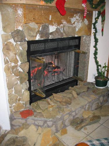 my unfinished fireplace - my unfinished fireplace