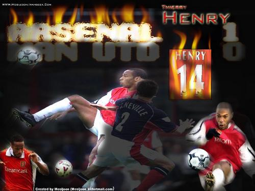 Theiry Henry - arsenal captain and top scorer
