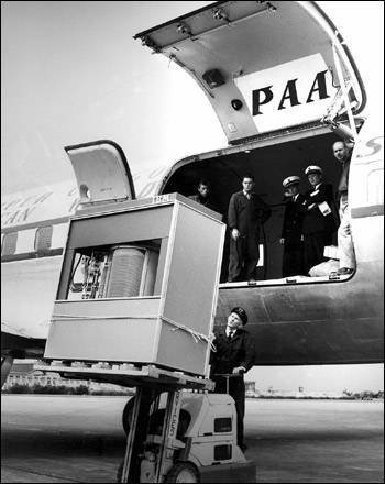 hard disk - Its a hard disk at 1956.... The Volume and Size of 5MB memory storage in 1956. In September 1956 IBM launched the 305 RAMAC, The first computer with a hard disk drive (HDD). The HDD weighed over a ton and stored 5MB of data.