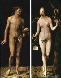 Adam and Eve, if not, then who would have existed  - Michelangelo's Creation of Adam, from the Sistine Chapel. Michelangelo shows God creating Adam, with Eve in His arm. While not strictly true to the Genesis account, this is one of the most famous depictions of the creation of Adam and Eve in Western art.