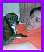 Me and my best friend - This is me with my dog Bubba.  He is a great source of comfort to me, and I love him very much.