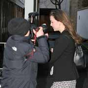kate middleton - kate middleton, prince william's girlfriend, being harrassed by a member of the paparazzi